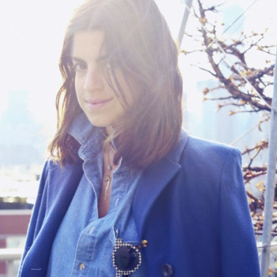"Leandra Medine: writes my favorite fashion blog Man Repeller. Recommended Bumble & Bumble Semisumo for those of us with ""big"" hair"