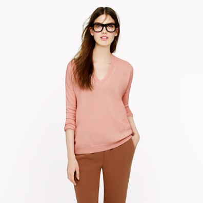 "The perfect cashmere ""Boyfriend Sweater"" from J. Crew"