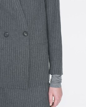 Long Pinstripe Blazer from Zara