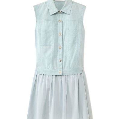 Thakoon Addition Denim Vested Dress