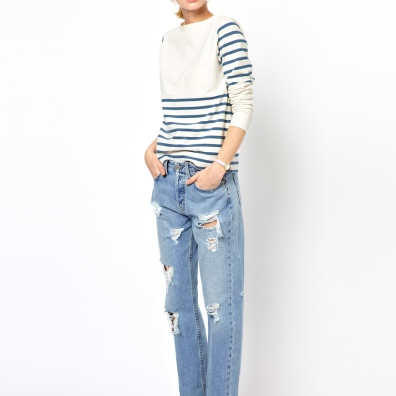 MiH Halsy Distressed Boyfriend Jeans