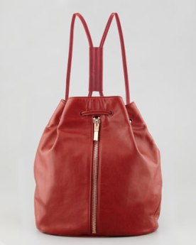 Swoon-worthy Elizabeth and James Leather Drawstring Backpack