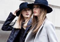Navy blue hats and borrowed-from-the-boys blazers via Zara