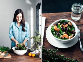 The wear-anytime chambray shirt. Just try to look smoother making a salad than this girl