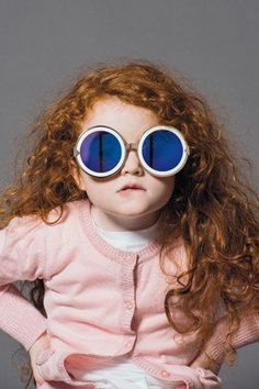One chic little girl from the Karen Walker eyewear campaign