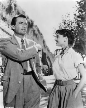 Gregory Peck & Audrey Hepburn in 'Roman Holiday'