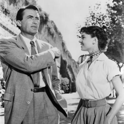 Gregory Peck & Audrey Hepburn in 'Roman Holiday'