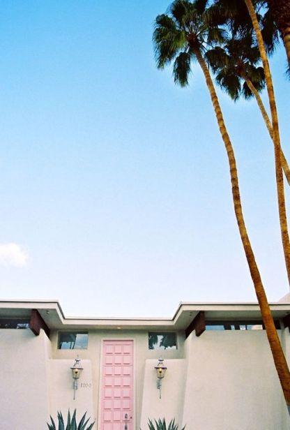 A pink door in Palm Springs