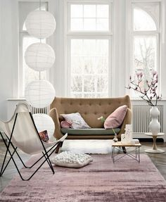 A room accented with pink elements