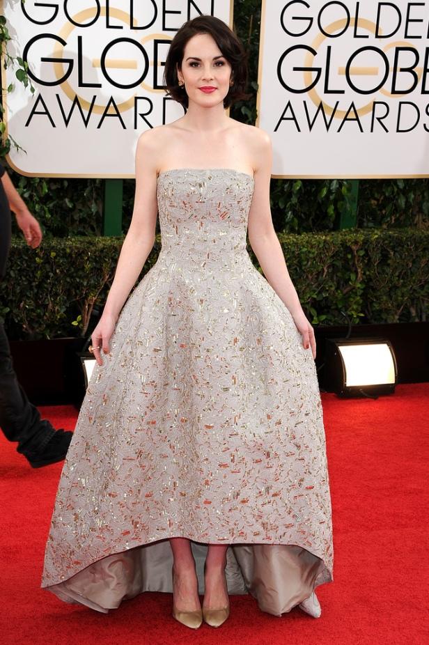 Michelle Dockery in Oscar de la Renta