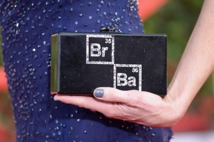 Anna Gunn's customized Breaking Bad clutch by Edie Parker