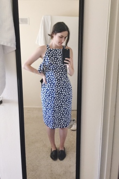 Love the neckline on this Kate Spade dress